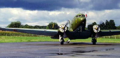 Douglas DC3 airplane, military planes, gooney bird green