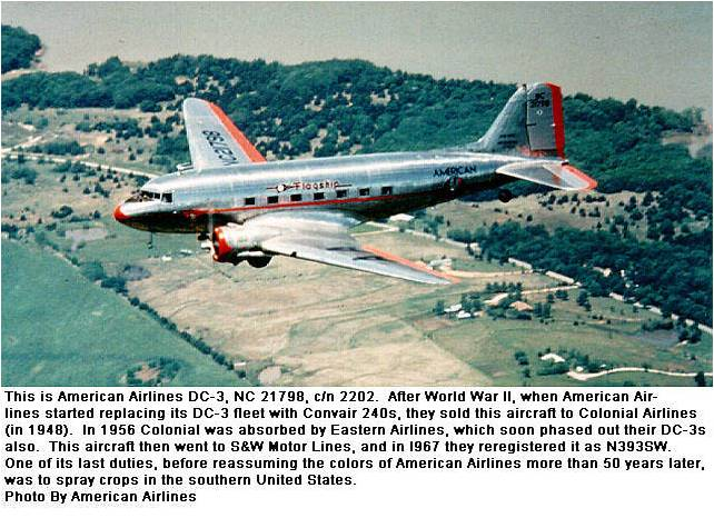 American airlines Falgship Knoxville, Douglas Sleeper Transport, DC-5,c-117,c-49,